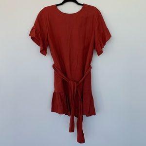 Urban outfitters rust/burnt orange summer dress.